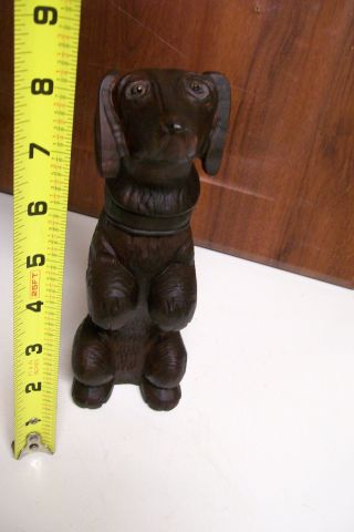 Vtg.  Dachshund Weiner Dackel Dog Wood Carved Clothing Brush Black Forest Figurine photo