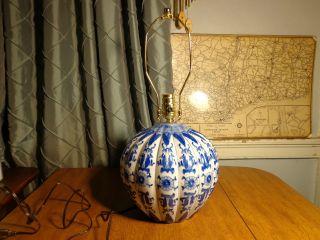 Hand Painted Ceramic Lamp photo