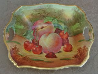 Vintage English Royal Winton Ceramic Grimwades Ltd Hand Painted Fruit Dish Tray photo