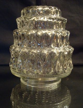 Antique Glass Lamp Shade Cascade Tiered 2 1/2 Inch Fitter photo