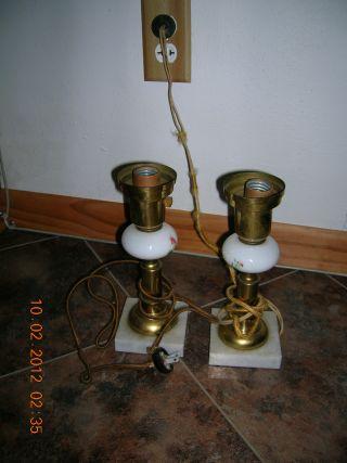 Set Of 2 Antique 1930s Lamps photo