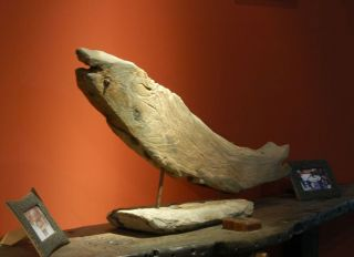 Reclaimed Decorative Fish Figure Ship Antique [da01] photo