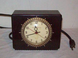 Vintage Bakelite Clock (general Electric) Working photo