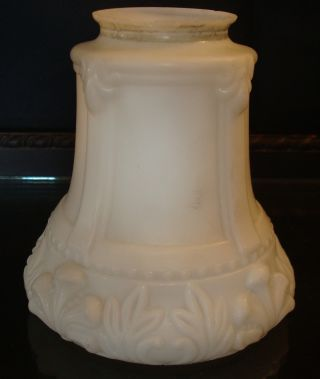 Antique Glass Lamp Shade Embossed Hanging Fixture 1 1/2 In Fitter photo
