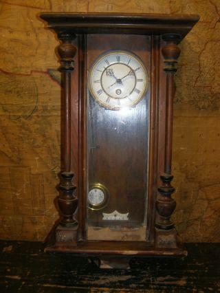 Antique Lenzkirch A.  G.  U.  Wall Clock Restoration photo