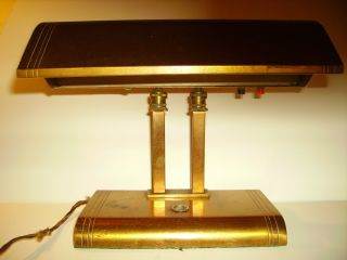 Antique Brass Desk Lamp photo
