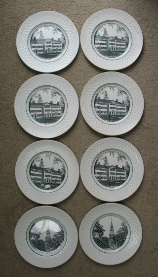 8 Dartmouth College Collector Plates
