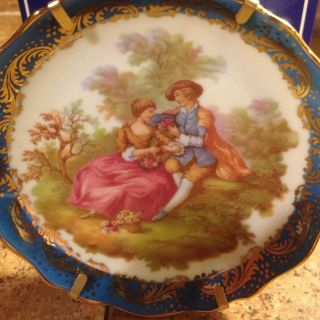 Limoges Castel France Porcelain Plate With Hanger Box With Certificate photo