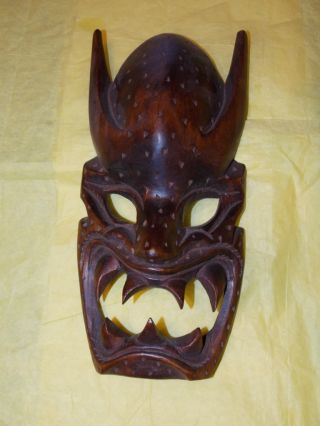 Demon House Mask Woodcarving Igorot Bontoc Ifuago Tribal Vintage photo