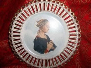 Italian Cabinet Portrait Plate 8 3/4
