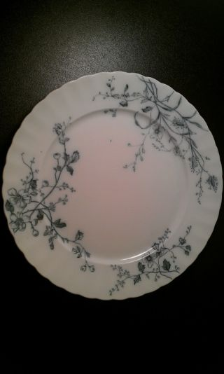 W.  H.  Grindley & C.  Tunstall English Ironstone Rustic Blue Transferware Plate photo