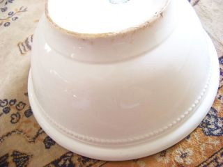 Antique White Ironstone Dresden Large Mixing Bowl photo
