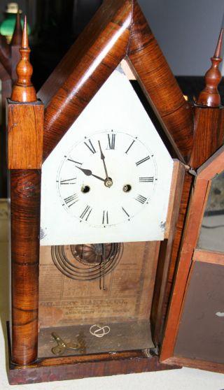 Gilbert Antique Steeple Clock photo