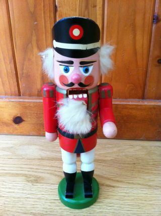 Vintage German Wooden Royal Gaurd Nutcracker From Europe Christmas Decoration photo