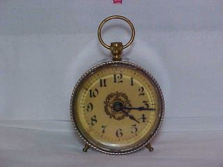Antique Miniature Clock Western Clock Mfg.  Co.  Patented Oct.  28.  1902 Keeps Time photo
