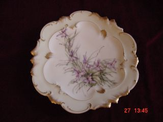 Limoges France Handpainted Floral Plate photo