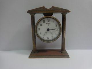 Vintage Rare Swiza Portico Alarm Clock.  Swiss Made photo