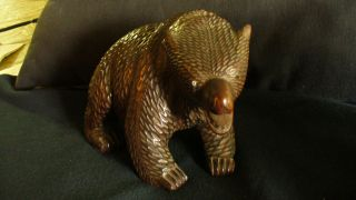 Black Forest Lake Bear Figurine - Antique Collectible photo