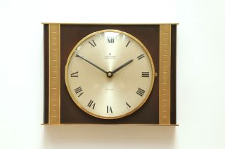 Junghans Germany - Ato - Mat - Wall Desk Clock - Mid Century Modernist - 60s 70s photo