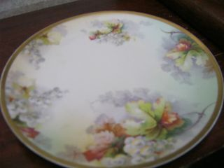 Vintage Porcelain Portrait Plate Brown Haired Victorian Lady So Pretty 7 1/2