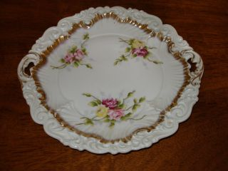 Dresden Porcelain Floral And Gold Plate photo