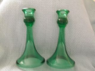 Antique Candlesticks Green (2) photo