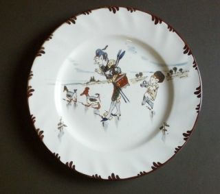 Rare Hand Painted Antique French Plate By Creil Montereau,  Parisien Series photo