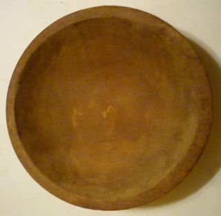 Old Primitive Munising Oval Wooden Bowl - 9