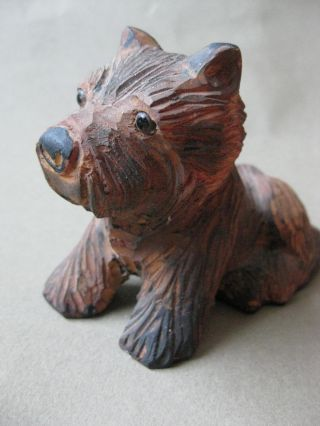 Antique Carved Scotty Dog Figure photo