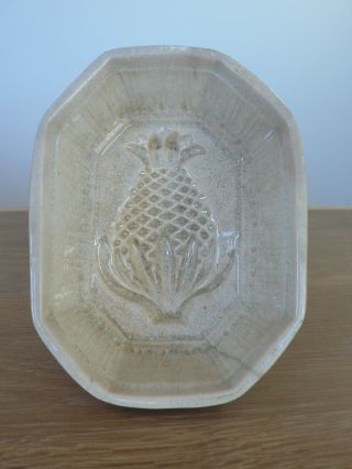 Antique [ironstone Pineapple Ceramic Food Mold Bowl] 1800 ' S Aspic Gelatin photo
