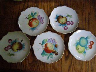 Set Of 5 Vintage Decorative Plates Fruit Motif photo
