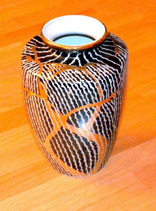 Gold,  Black & White Vase,  Exquisite Art - Pattern photo