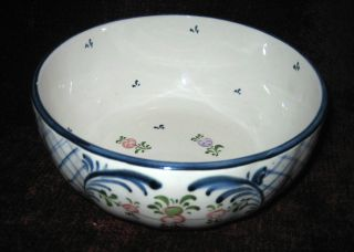 Vintage Scalloped Sided Hand Painted Ceramic Porcelain Serving Bowl From Germany photo