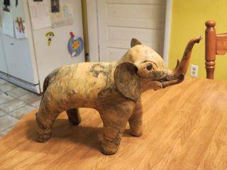 Large Elephant Sculpture / Figurine - Very Unique,  Retro Elephant - 12