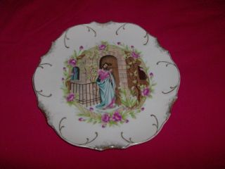 Vintage Gold Trim Plate With Jesus Knocking At The Door photo