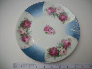 Antique Triple Roses Es Prussia Plate photo