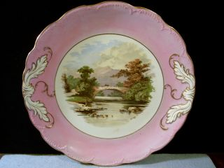 Antique Bridge Of Turk,  Scotland Violet Purple Design Scene Plate photo