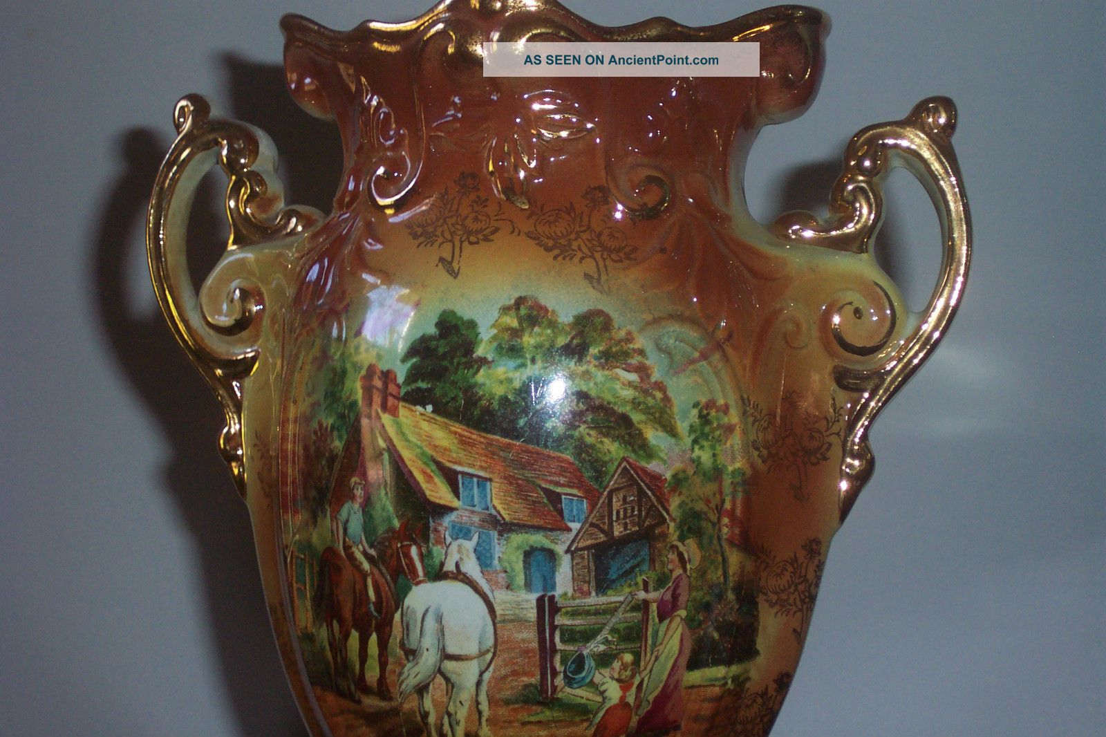 Antique Victorian Porcelain Vase Made
