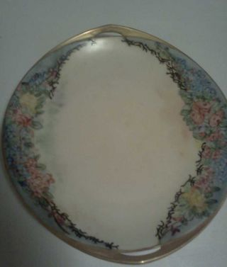 Antique Czechoslovakia Porcelain Plate Signed Nellie Forrest 1940 photo