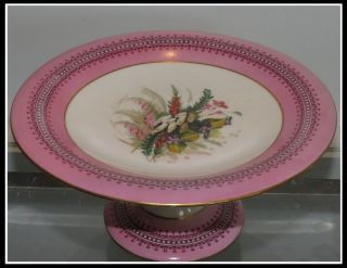 Unusual Early Antique Worcester Porcelain Hand Painted Centerpiece W Flowers Nr photo