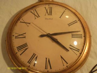 Antique Clock United 17x13x2 Usa Large Corded Hanger Model 40 Corp.  Brooklyn Ny photo