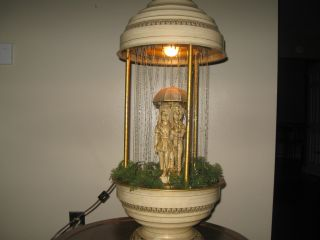 Antique 1950 ' S Metal Oil Lamp Signed photo
