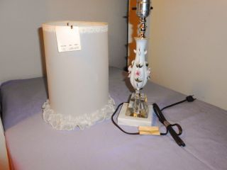 Boudoir Lamp New Condition In Box Soft Colors Artfully Done photo