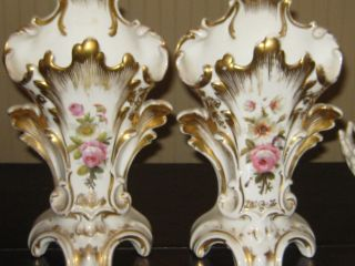 Pair Of Antique Old Paris Vases photo