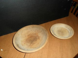 Munising Wooden Bread Bowls (2) photo