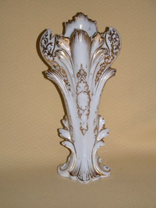 Paris Porcelain Mantle Vase Wired As A Lamp photo
