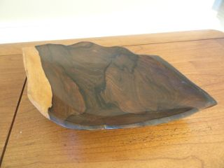 One Hand Carved Solid Wooden Unique Shaped Dish Db photo