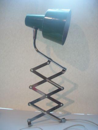 Vintage Industrial Light Green Shade Scissor Wall Lamp Modern photo