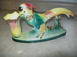 Vintage,  Ceramic Pheasant / Bird Of Paradise Planter photo