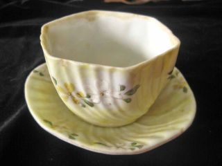 Antique Porcelain Decorated Bowl Or Vanity Jewelry Dish photo
